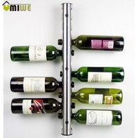 Umiwe Creative Stainless Steel Wine Rack Holders 8 12 Holes Home Bar Bottle Display Stand Rack