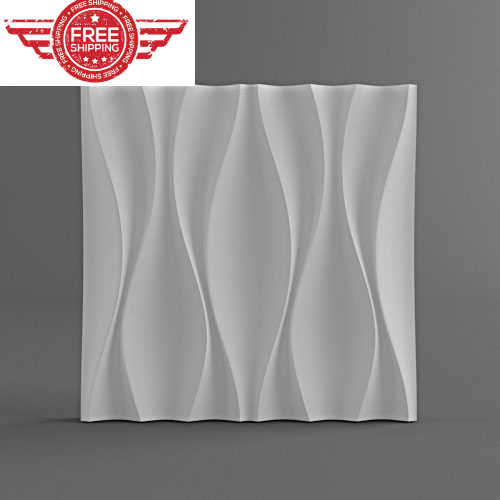 "Plastic Molds 3D decorative wall panels ""Kyvin"" for gypsum, Price for 1 Plastic forms Plaster gypsum new design"