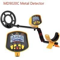 Detector de metais subterrâneo profissional md9020c detector de metais de alta sensibilidade display lcd tesouro caçador de ouro localizador scanner