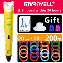 myriwell 3d pen 3d pens, 1.75mm ABS/PLA Filament, 3d model,3d printer pen-3d magic pen Kids birthday present  Christmas present цена 2017