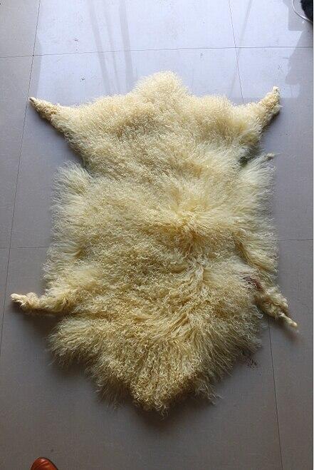 Sheep Skin Curly Fur Tanned Lamb Fur Mongolian Sheep Fur