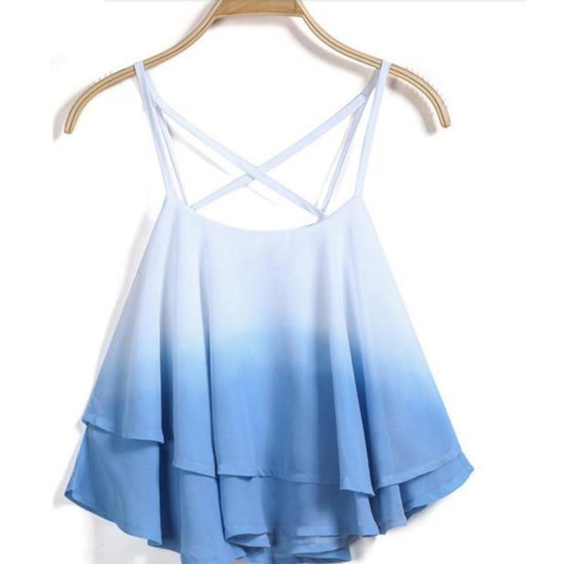 100% Kwaliteit Zomer Tops Vrouwen Onregelmatige Zomer Band Bloemenprint Chiffon Shirt Hemdje Vest Zomer Top Shirt Vrouwen Kleding 2019 L2 Kwaliteit En Kwantiteit Verzekerd