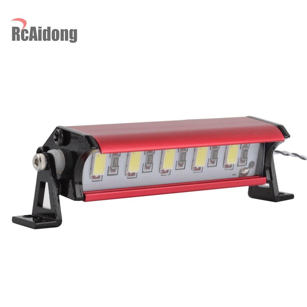 1/10 RC Crawler Metal 5 LED barra de luz Kit para 1/10 Escala de Control remoto modelos TAMIYA CC01 Axial SCX10 RC4WD D90 D110 90046