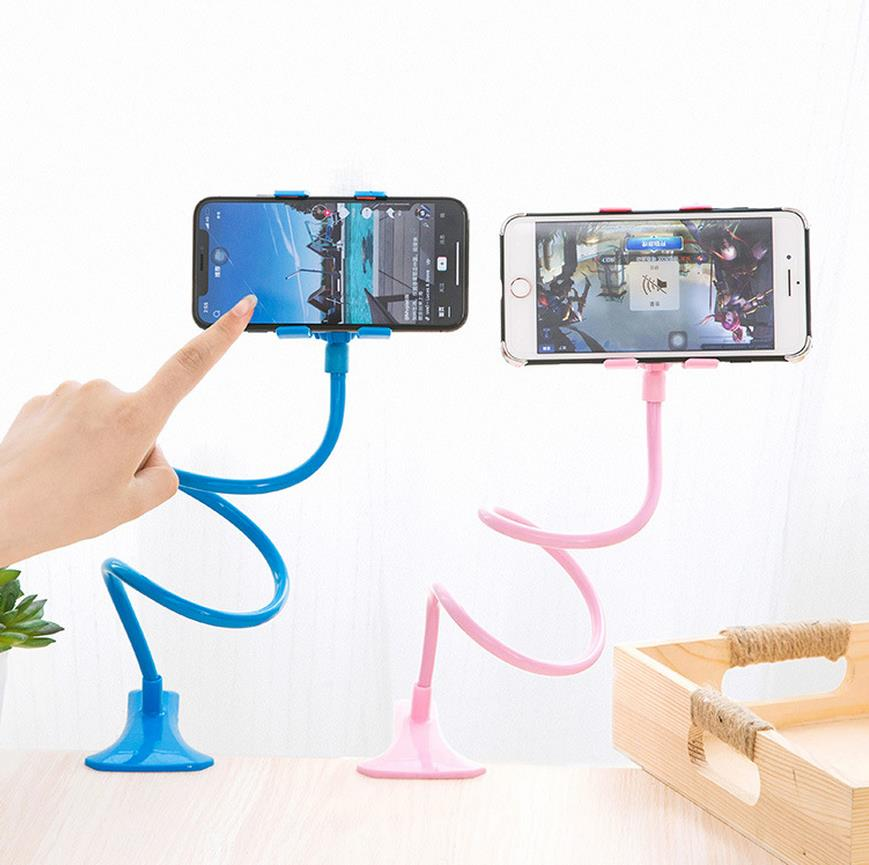 Flexible Long Arm Phone Holder Mobile Lazy Stand Bed Clip Bracket Portable Clamp Stand Cell Phone Desk Adjustable Car Support