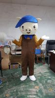Pig Mascot Costume Pig brown cloth Cartoon appear Cosplay Carnival Costume Anime Cosplay Mascotte