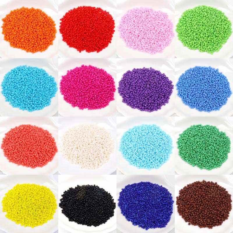 Черные стеклянные чешские бусины-разделители для ювелирных изделий ручной работы, бесплатная доставка, оптовая продажа, 19 цветов, 2 мм, 1000 шт., 3 мм, 500 шт.