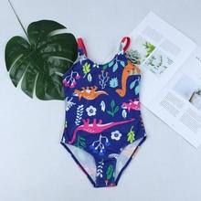 Новинка года; купальный костюм; купальная Одежда для девочек; бандажный купальник с животными; детская одежда для пляжа с цветочным принтом; Спортивный Купальный костюм; купальный костюм