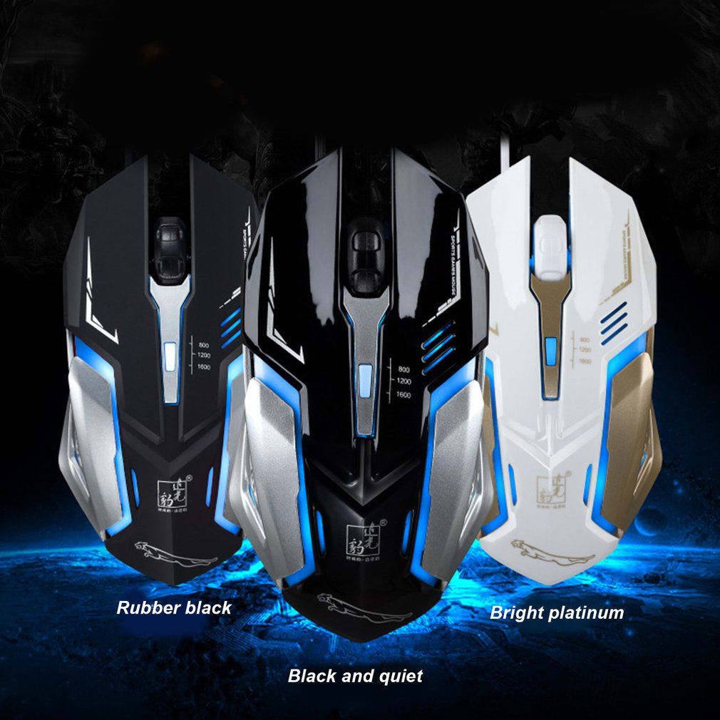 K1 Silent Mute Wired Photoelectric Glow USB Game Professional Pro Mouse Gamer Computer