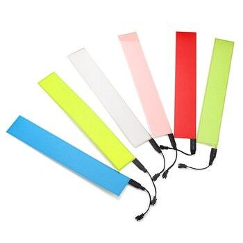 12x2 cal 12 V elastyczne taśmy EL elektroluminescencyjne Panel z powrotem taśmy oświetleniowe LED światła falownik 6 kolorów