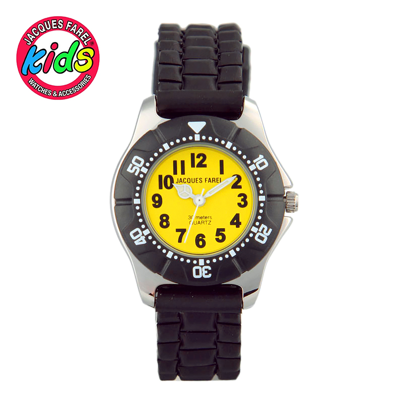 JACQUES FAREL Kids Children watches fashion cute simple waterproof Quartz Wristwatches Boy clock fashion brand children quartz watch waterproof jelly kids watches for boys girls students cute wrist watches 2017 new clock kids