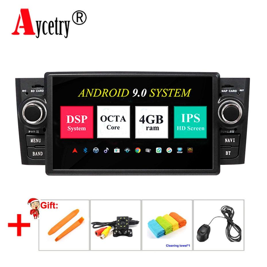 Octa core 4G RAM Android 9 Car radio multimedia player dvd GPS vedio For Fiat Grande