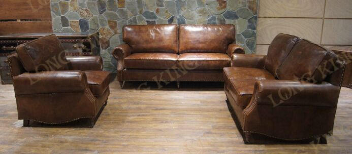 JIXINGE Furniture sofa leather sofa modern minimalist fashion first layer of leather living room sofa 1+2+3 seater post modern