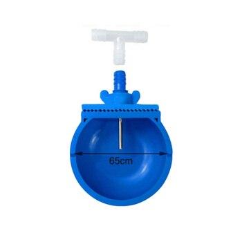 Farm Rabbit Drinking Bowl Waterer Accessories Backyard Poultry Supplies Pet PVC 65mm Blue Attachment Equipment
