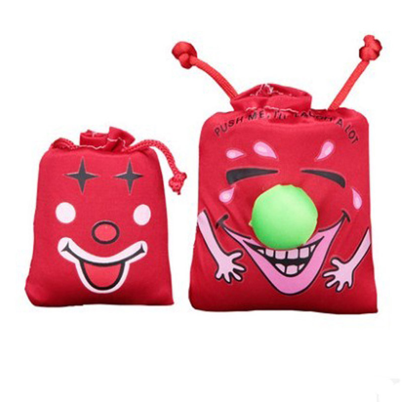 8 10CM New Kids Children s Gags Happy Toys Music Funny Laugh Bag Pinch Laughter Bags