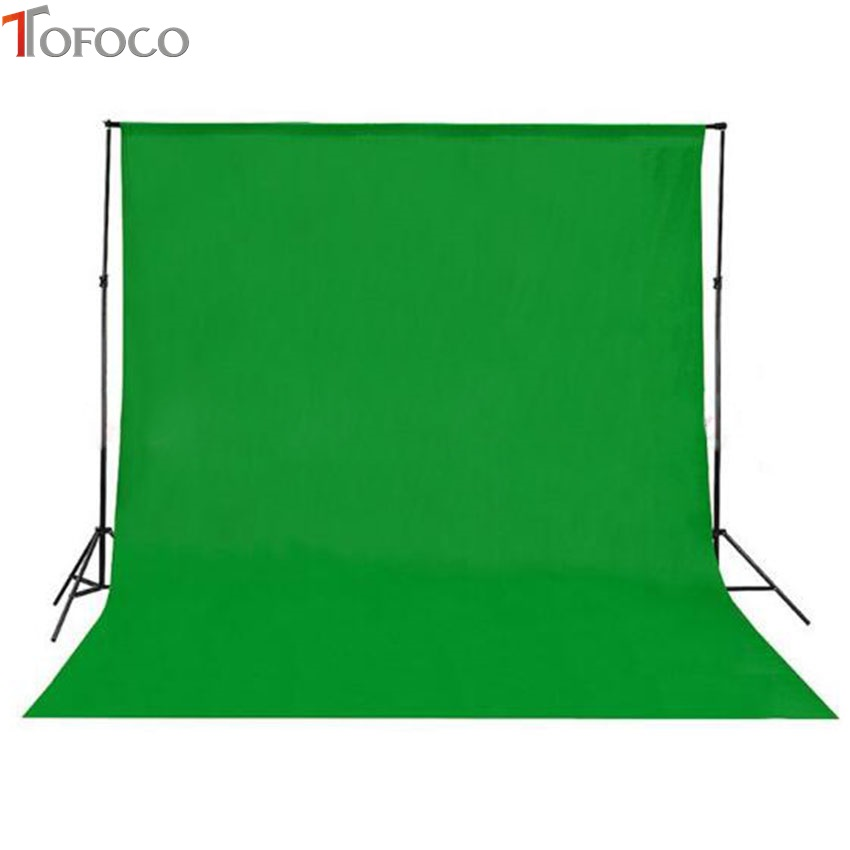 TOFOCO 1.45m x 1m Photography Backdrop Chromakey Green 100% Cotton Muslin photo background