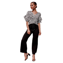 JYSS Summer new fashion striped zebra camis tops women personality short sleeve streetwear v neck tank tops girl female 82061 цена и фото
