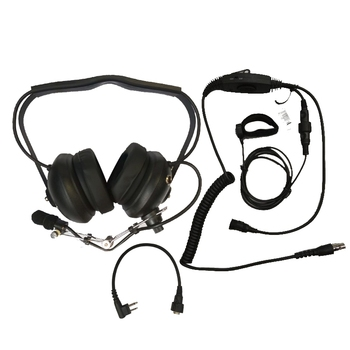 H41 aviation headset VOX PTT Earpiece for Motorola 2 Pin Walkie Talkie EP450 GP2000 GP88 GP88S CP88 Two Way Radio