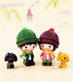 Car accessories Decoration,Couples doll Ornaments ,Walk the dog doll car furnishing articles