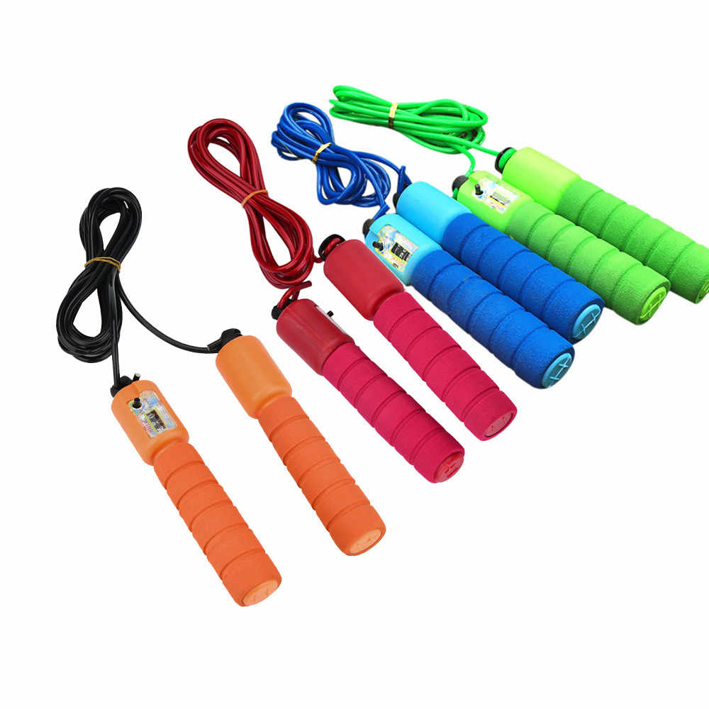 Training fitness Kids Children Jump Rope Skipping Skip Rope Adjustable Length Automatic Counting Sport Accessories