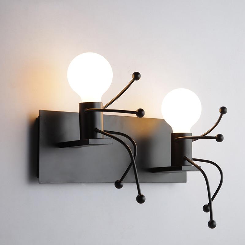 €25.48 39% de réduction|Applique moderne mur LED appliques chevet applique  murale chambre d\'enfants bébé arandela dessin animé éclairage à la maison  ...