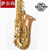 Top Musical Instruments Selmer 802 Phosphor Bronze Saxophone Alto E Saxophone Gold Key Professional Free Shipping
