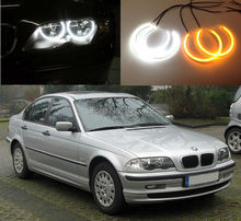 For BMW E46 3er Pre-facelift 1998-2001 Excellent Ultrabright Dual Color Switchback smd LED Angel Eyes Halo Rings kit