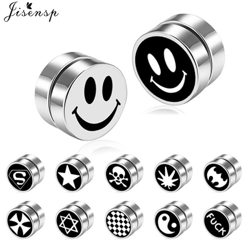 1PC 8mm Mens women Strong Magnet Magnetic Health Care Ear Clip Earrings Non Piercing Fake Earrings Street Pop Punk jewelry