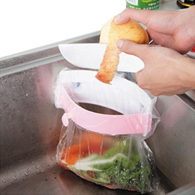 Neue Kunststoff Faltbare Hängen Müll Tasche Rack Küche Schranktür ...