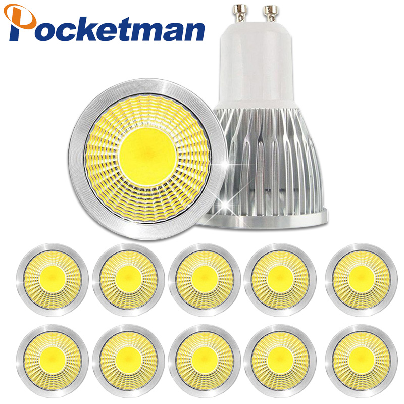 цены  Gu10 Led Dimmable GU10 Led Spotlight Bulb 15W 10W 7W Gu10 Led Cob Sport Light Lamp Bulb AC85-265v Lampada 10pcs