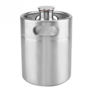 Image 3 - 2/3.6/5L Stainless Steel Mini Beer Keg Pressurized Growler for Craft Beer Dispenser System Home Brew Beer Brewing Beer Supplies