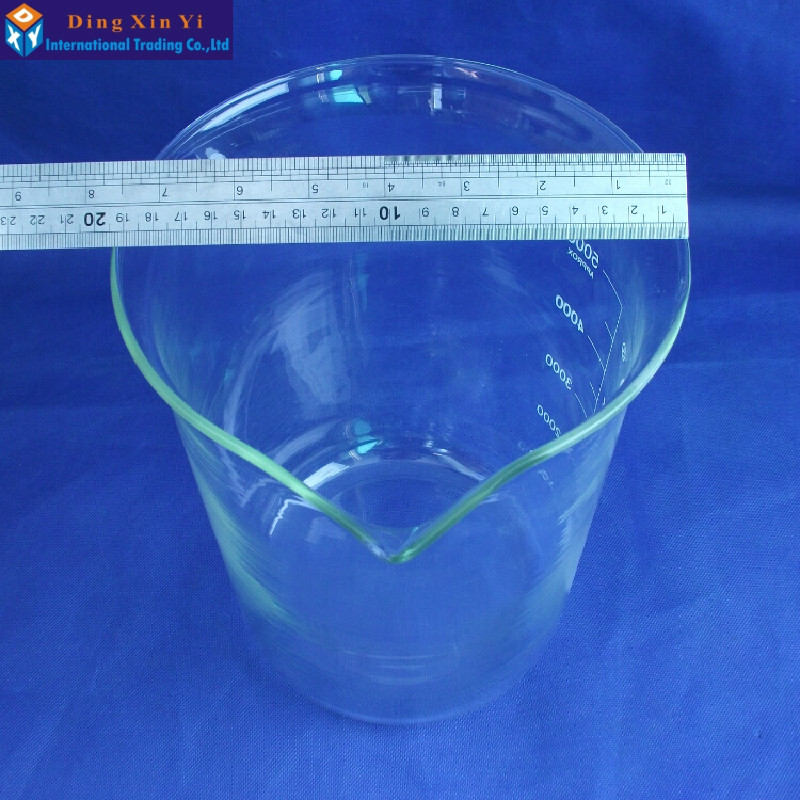 Image 4 - SHUNIU Glass beaker 5000ml,Lab beaker 5000ml,Low form with graduation and spout Boro 3.3 Glass Chinese famous brand-in Beaker from Office & School Supplies