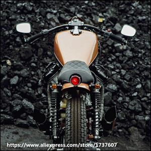 Image 5 - Universal cafe racer spiegel motorrad edelstahl rückspiegel vintage motorrad griff bar rückspiegel für GN