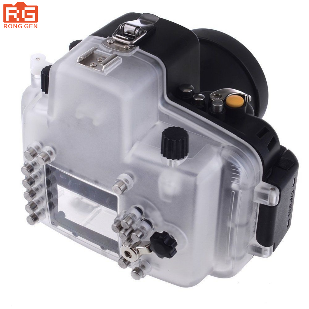 Meikon 40m 130ft Waterproof Case Diving Camera Case Underwater photography For Nikon D7100 Camera With 18 55mm Lens