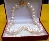 Wholesale Free Shipping GENUINE 9 10 MM Saltwater WHITE PEARL NECKLACE 18