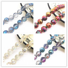 Wholesale 12mm Austria Faceted High Quality Crystal Glass Loose Spacer Round Beads Ball Handmade DIY Jewelry Making Bracelet