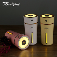 Tbonlyone 500mAh Battery Powered 300ML Cup Humidifier Aroma Lamp Ultrasonic Essential Oil Ultrasonic Diffuser Air Humidifier