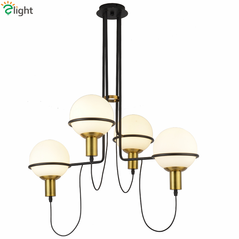 Post Modern Irregular Metal E27 Led Chandelier Living Room Frosted Glass Pendant Chandelier Lustre Led Chandelier Lighting caged onion post verdi gris with galley 3 candelabra sockets frosted glass