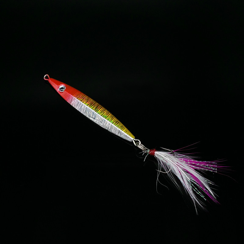 Iron Plate 5pcs/lot 5 Color Metal Jigging Spoon Spinner 8cm 20g Hard - Fishing - Photo 3
