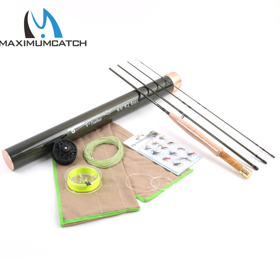 Maximumcatch 6ft-7.6ft 1/2/3 WT Fly Fishing Rod Combo Carbon Fiber Fly Fishing Rod with Reel&Line&Backing line&Flies Hook maximumcatch nexus 12 13 6ft tenkara telescoping fly rod 7 3 action fishing rod sock carbon tube with line keeper and fly line