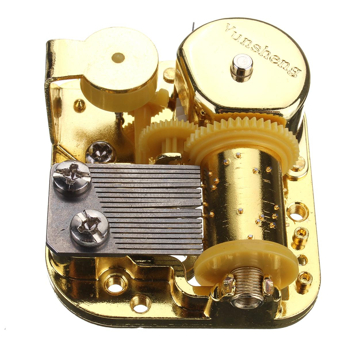 Gold Plating 18 note Music Movement Music Box Play Happy Birthday to You