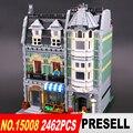 Lepin 15008 2462 Unids Ciudad Calle Creador Verdulería Kits de Edificio Modelo Bloques Ladrillos Compatibles 10185
