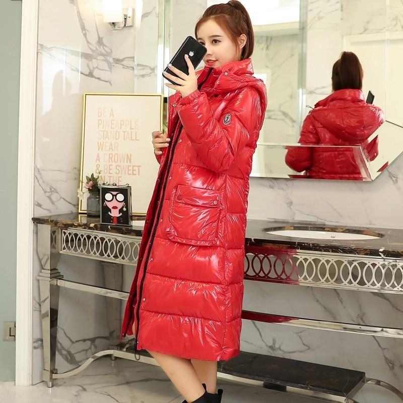 Casual gray 2018 red De Extérieur Survêtement D'hiver Cw084 white Chaleur Coton Solide Manteau Hiver Mode New Black blue Long Imperméable Femmes Veste SOwqH4S