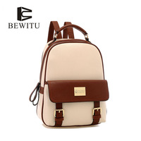 BEWITU Fashion Women Backpack Youth Vintage PU Backpacks For Teenage Girls New Female School Bag