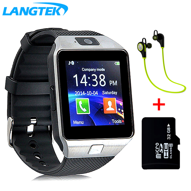Popular reloj inteligente DZ09 con cámara reloj de pulsera Bluetooth GSM reloj inteligente para teléfonos Android Ios apoyo FT tarjeta Multi idioma