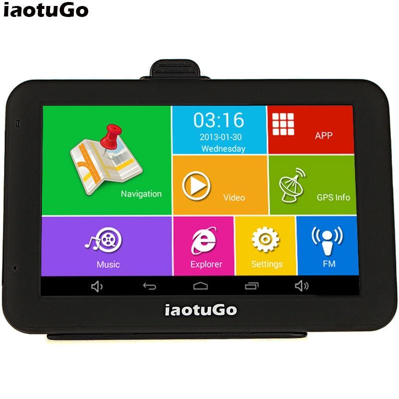 "Iaotugo 5 ""емкостный android-автомобильный GPS грузовик навигатор Android 4.4.2 4 ядра 1.3 ГГц, 8 г, WI-FI, av-in, bluetooth fm"