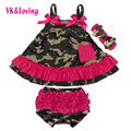 Newborn Girl Clothes Sets Clothing Infant Cotton Swing Top Set Ruffle Outfits Bloomer Next Baby Girls 0-2 yrs 3pcs Set