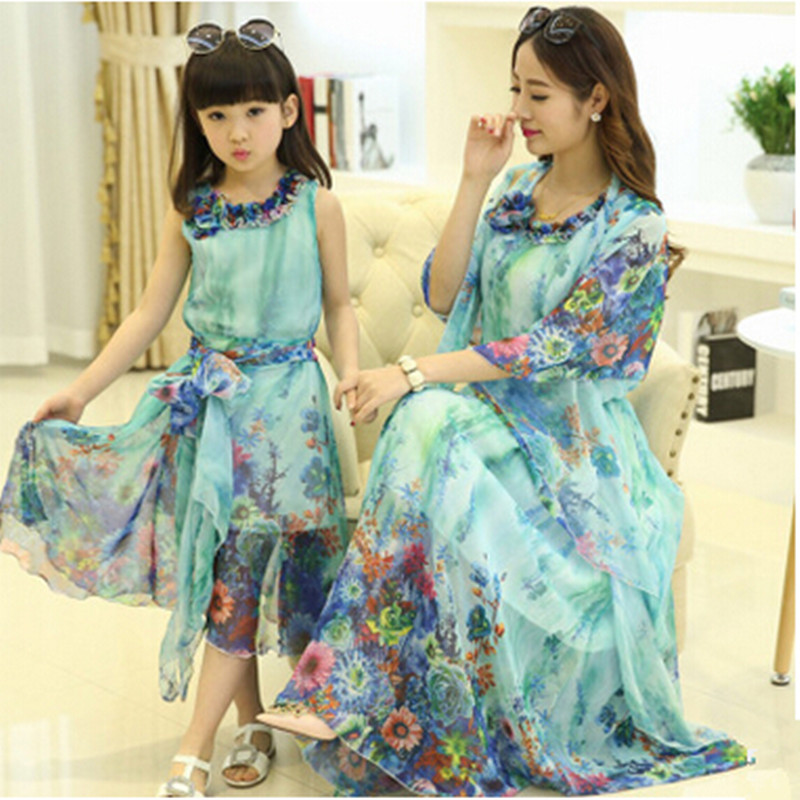 09c6b6e075122 Korean Style Family Matching Dress Clothes Mother Daughter Matching ...