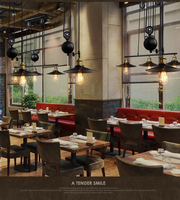 1 2 3 Head Lifting Pulley Industrial Dining Room Pendant Light American Country Vintage Loft Pulley