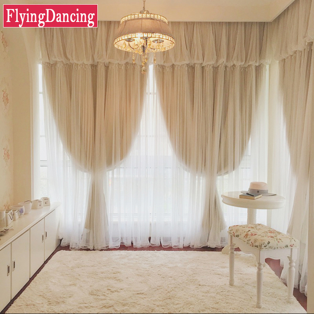 Luxury Lace Curtains For Bedroom Wedding Drapes For Living Room Solid  Blackout Curtains For Girls Room