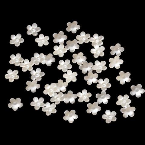 Купить 12 мм abs пятилепестковый цветок искусственный жемчуг смола